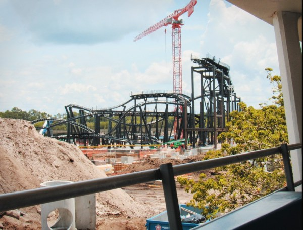 Tron Lightcycle Power Run Construction (July 2019)