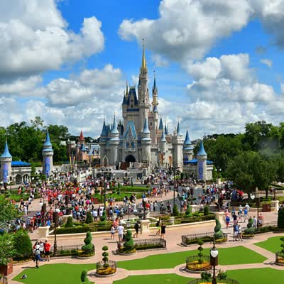 Video of Magic Kingdom, zooming in to show yourself posing
