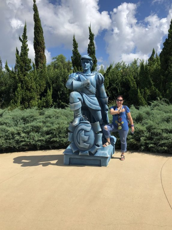Goofily posing with Prince Eric at Disney's Art of Animation Resort in Walt Disney World