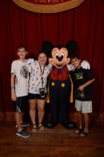 Mickey Mouse Meet and Greet in Magic Kingdom at the Town Square Theater on Main Street USA