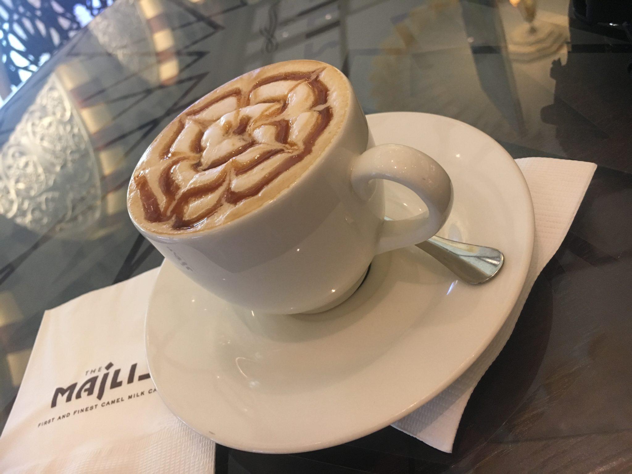 Camel milk cappuccino