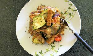 Quinoa with Eggplant, Zucchini and Tofu