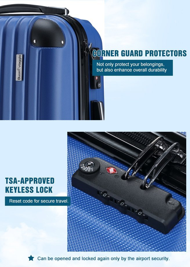 blue luggage extra