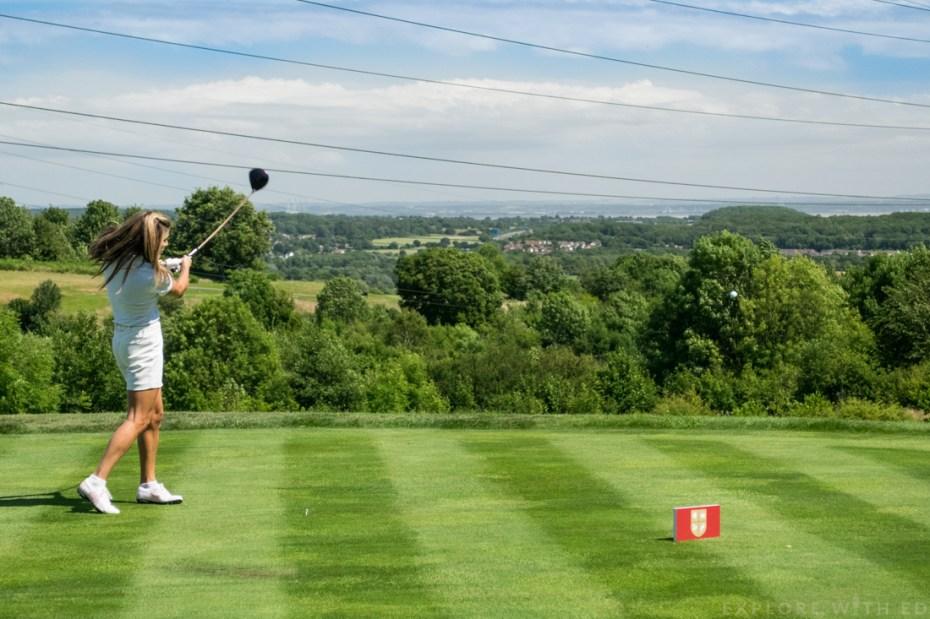 Zoe Hardman playing golf for Team England