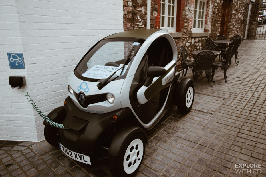 The Angel Hotel's small electric car hire