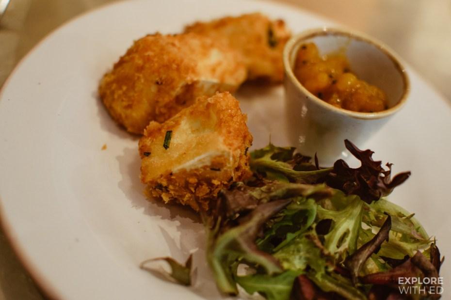 Fritot de Brie, deep-fried brie from Bistrot Pierre's new A La Carte menu