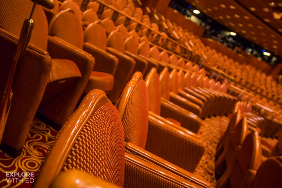 Caribbean Princess Theatre Seating