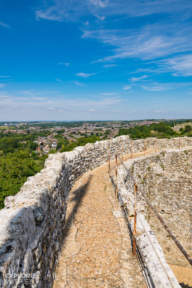 Views over Newport from Carisbrooke Castle Keep