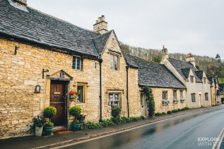 Quaint country cottages in Castle Combe