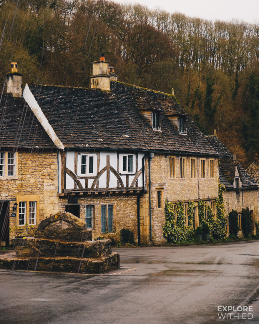A rainy day in England's prettiest village, Castle Combe