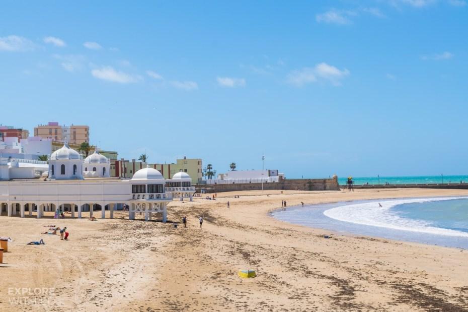 Cadiz Spain La Caleta beach