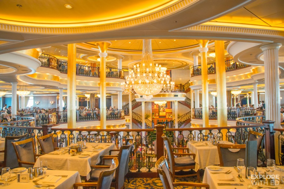Independence of the Seas Main Dining Room Experience