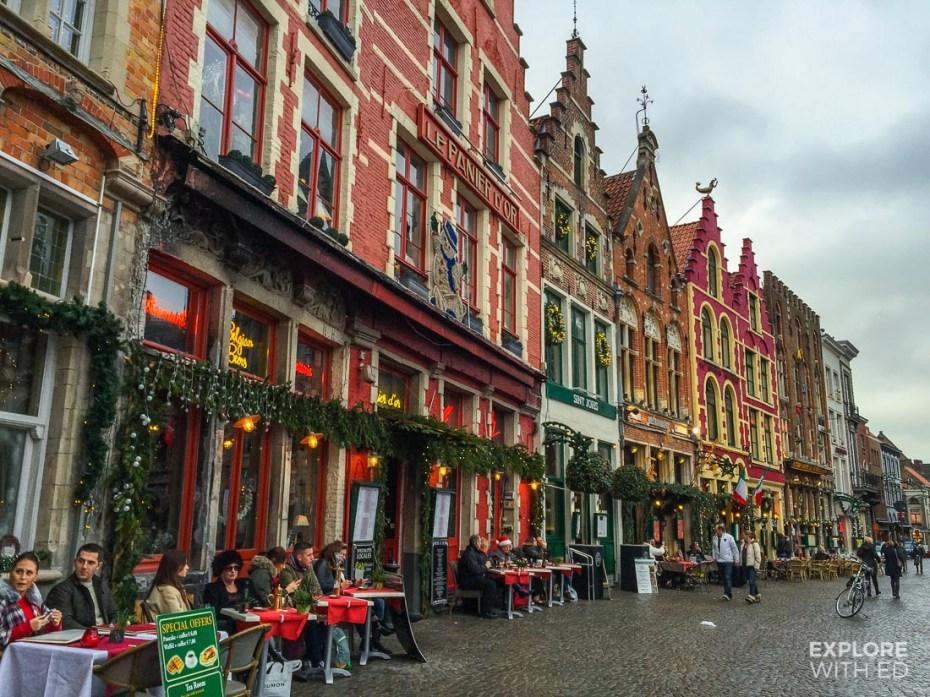 Cafes in Bruges Belgium