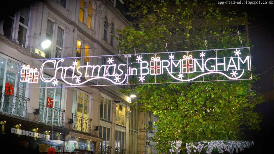 Christmas shopping in Birmingham