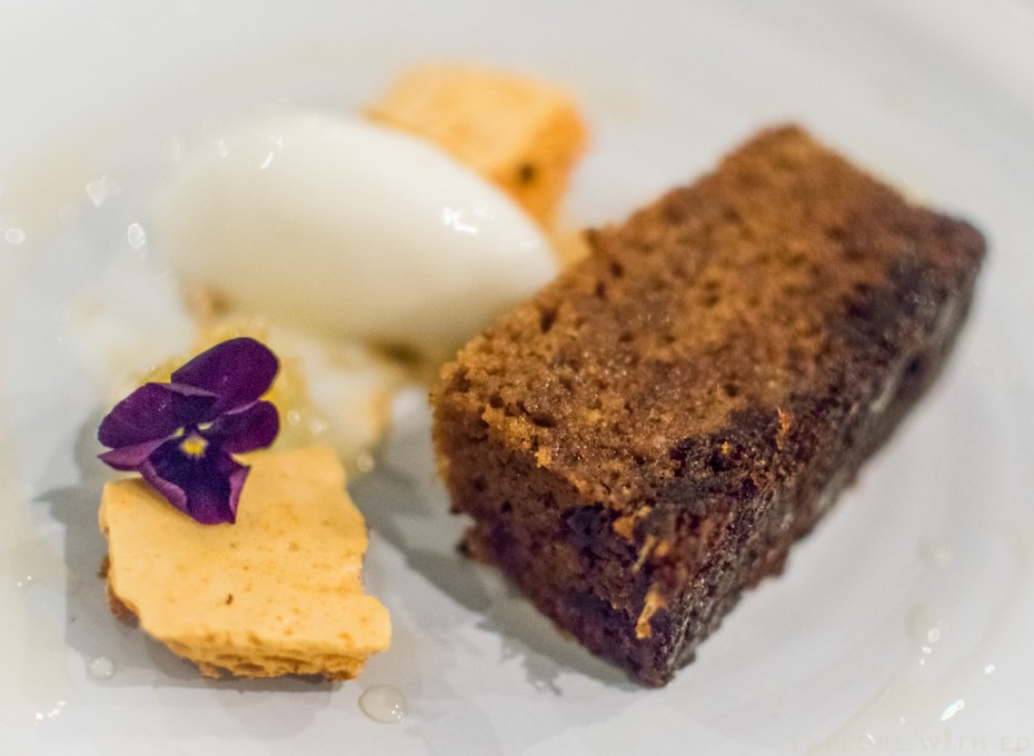 Honey and Yuzu Cake, Larkin Cen cake, Desserts at Cen