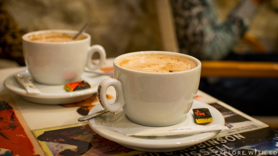 Hot chocolate, The Artiste Café, Saint Paul-de-Vence