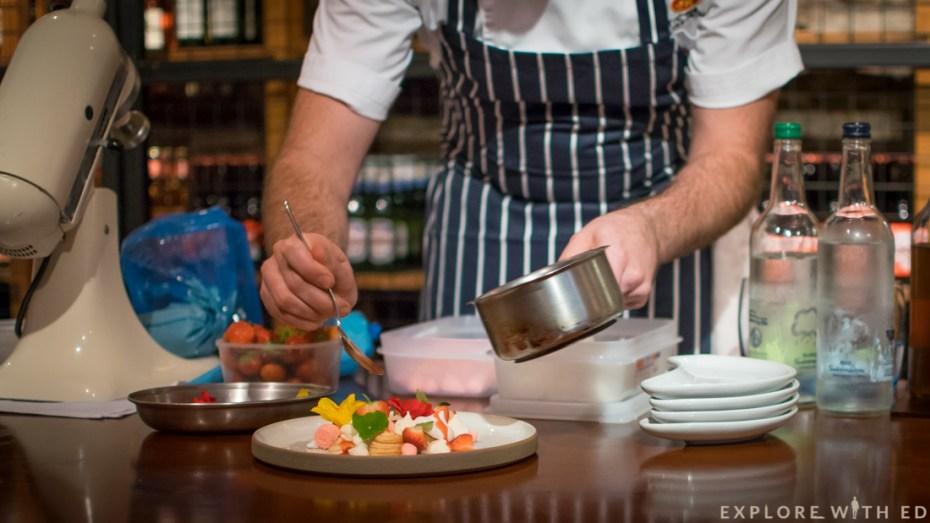 Eton Mess, Edible Flowers, Cucumber flowers, Strawberry soup, Dessert, The Celtic Manor