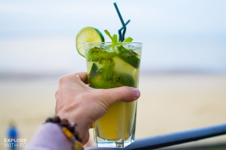 Cocktails at Three Buoys Appley Beach