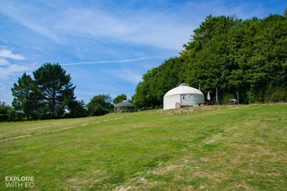 Yurts on The Garlic Farm Isle of Wight