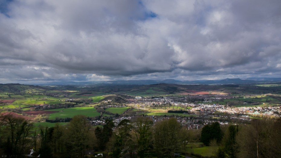 view from the kymin, monmouthshire from above, best views in britain