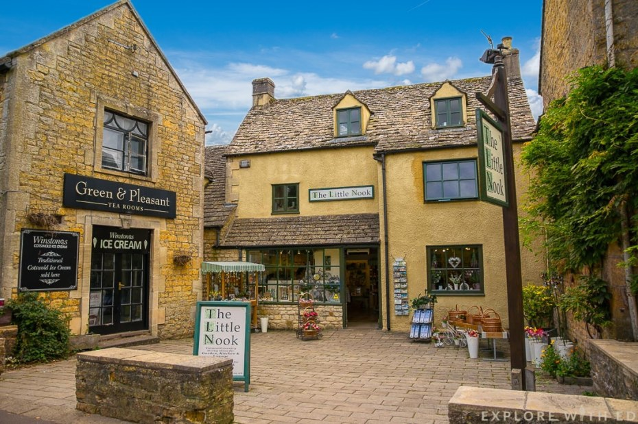 The Little Nook, Green & Pleasant Tea Room, Bourton-on-the-Water shops