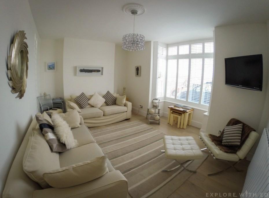 Promenade View interior, Living Room, Swansea Holiday Let