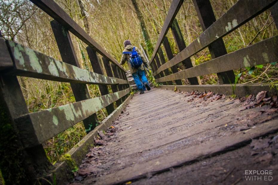 Footbridge towards Henrhyd Waterfall