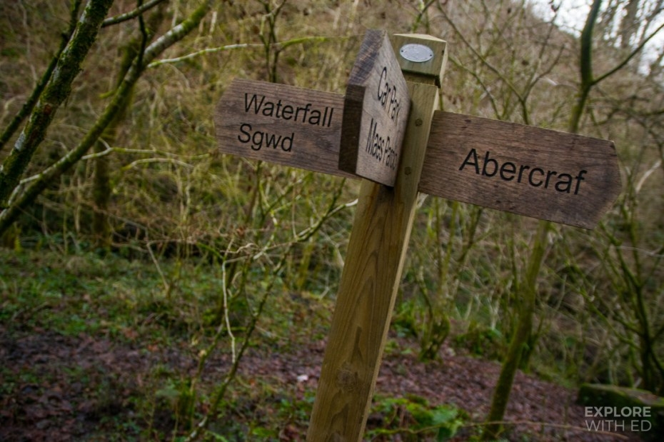Nant Llech Walking route to Henrhyd Waterfall