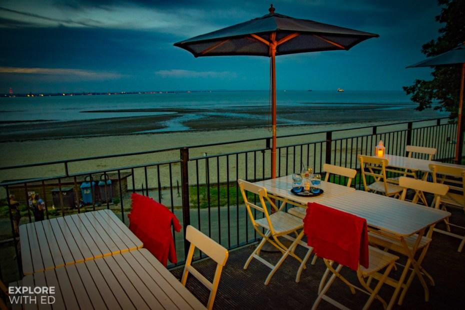 Three Buoys Balcony area with Appley Beach views