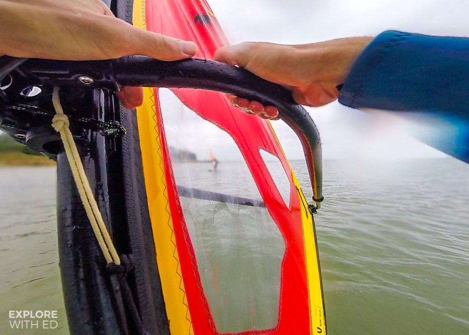 Windsurfing with Tackt-Isle Adventures