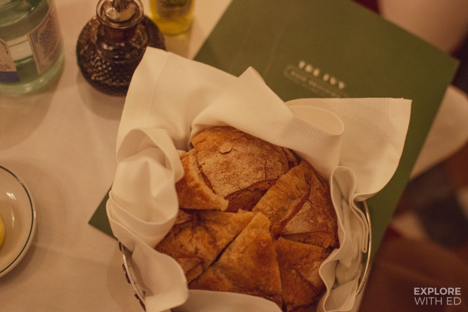 The Ivy Bath Sourdough Bread Appetiser