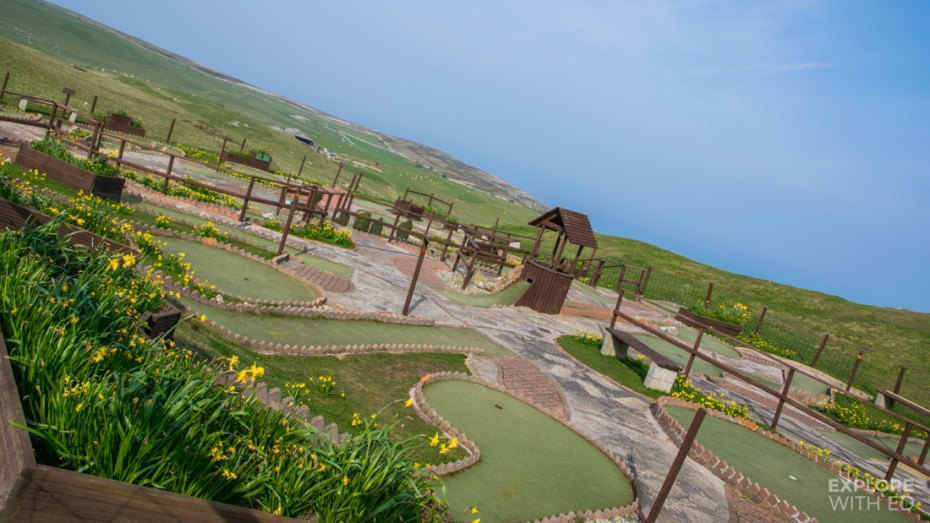 Mini golf course on the Great Orme