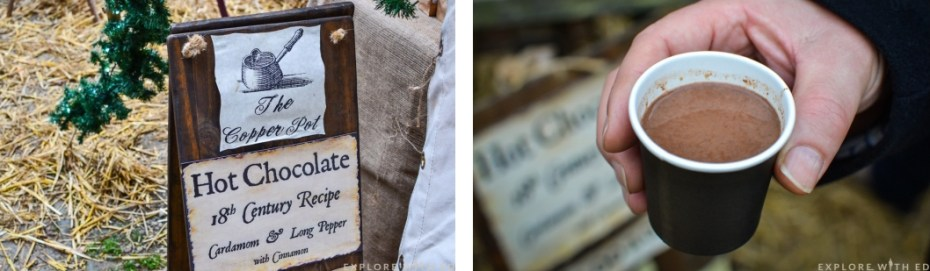 Hot chocolate, Ludlow Medieval Christmas Fayre
