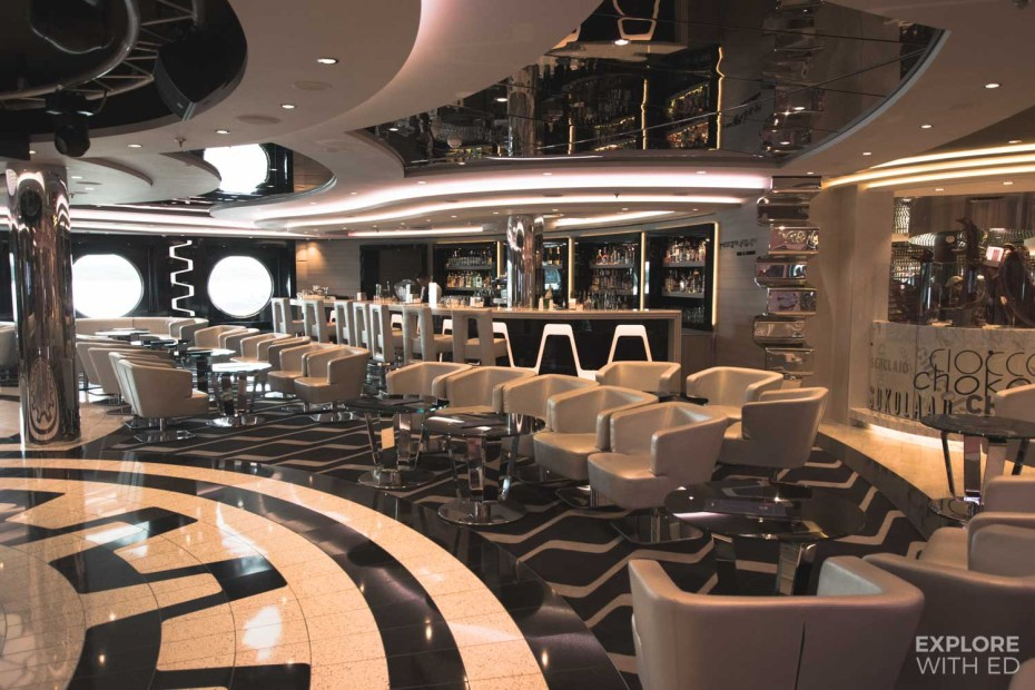 Futuristic bar on MSC Cruises