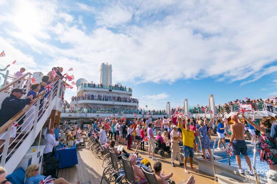 P&O Cruises Rule Britannia Sail away Party