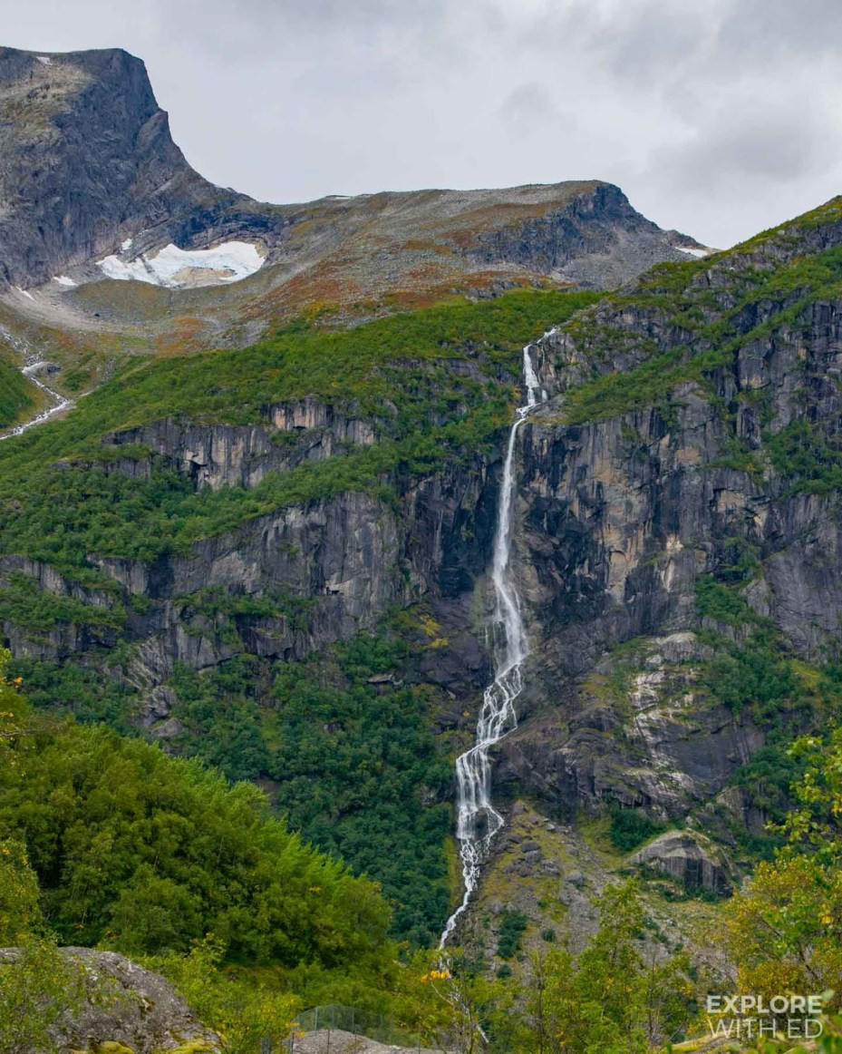 The breathtaking landscape in Briksdal near Olden, Norway