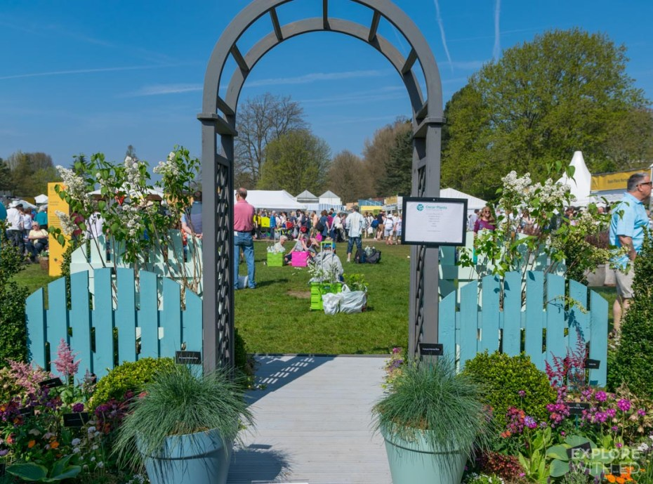 Exhibition areas at The RHS Flower Show