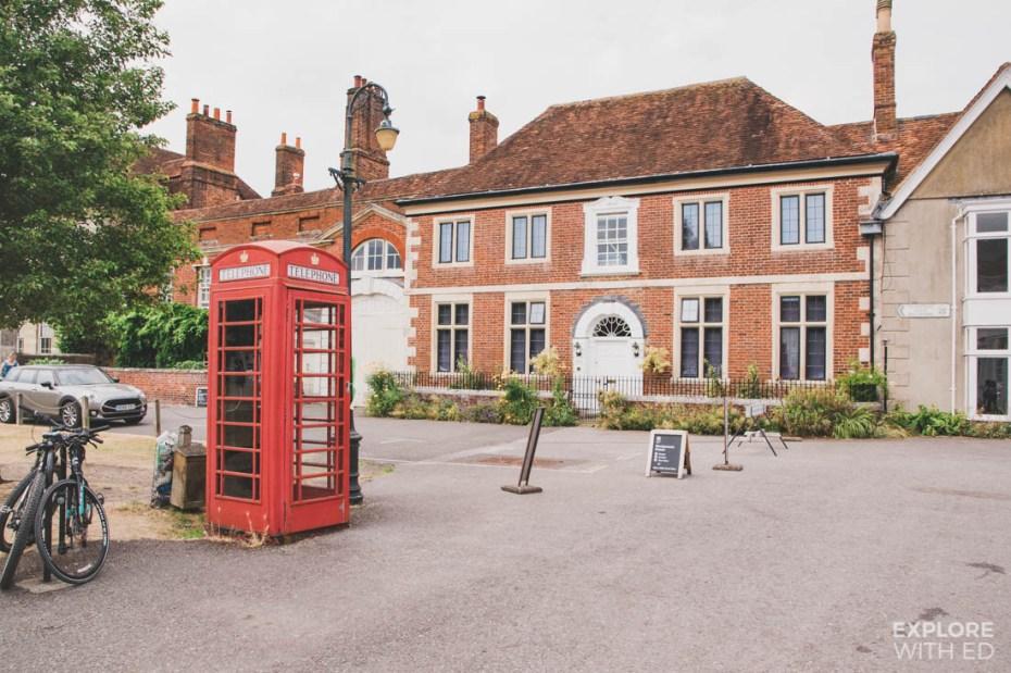 Red telephone box in Salisbury