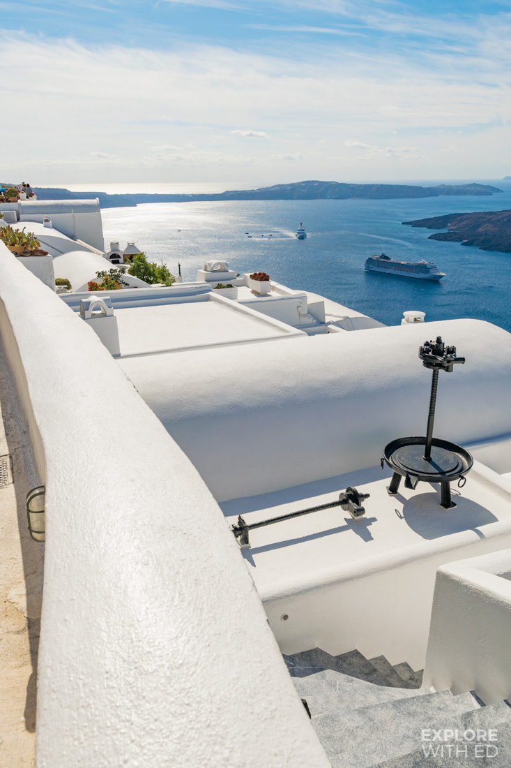 The white washed buildings of Fira in Santorini
