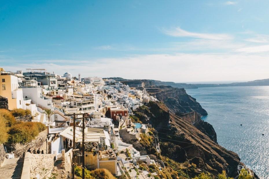 The view of Fira in Santorini
