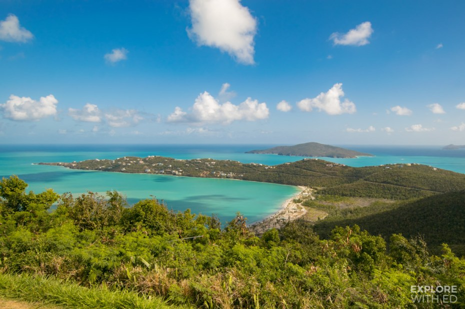 The beautiful Magens Bay in St Thomas is one of the world's best beaches