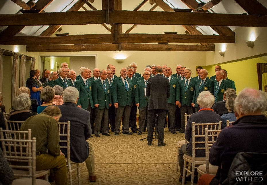 Choir at the Swan at Hay party February 2017