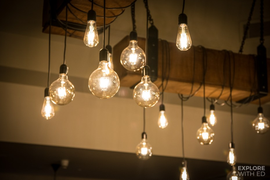 Industrial style exposed lighting design