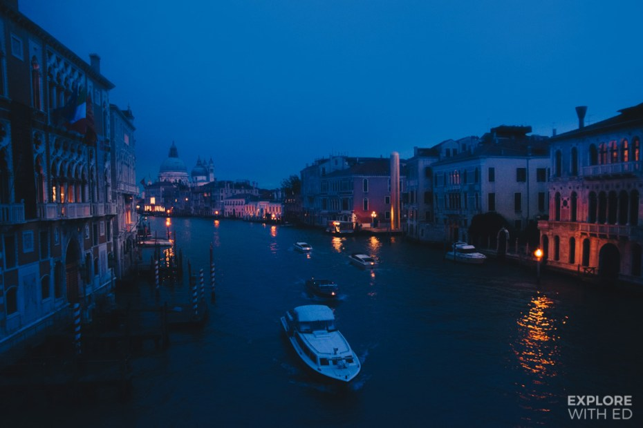 Twilight over Venice's Grand Canal
