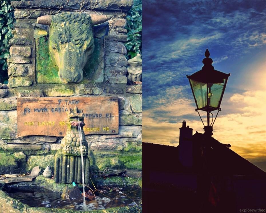 Fountain sculpture in Caerleon