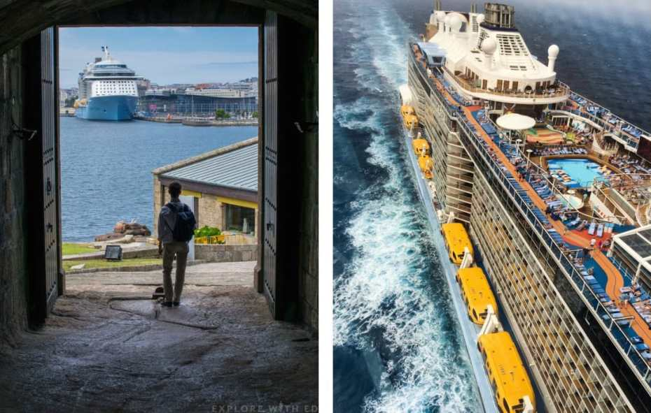 Anthem of the Seas view from North Star, A Coruna Spain