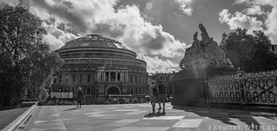 The Royal Albert Hall In Black and White