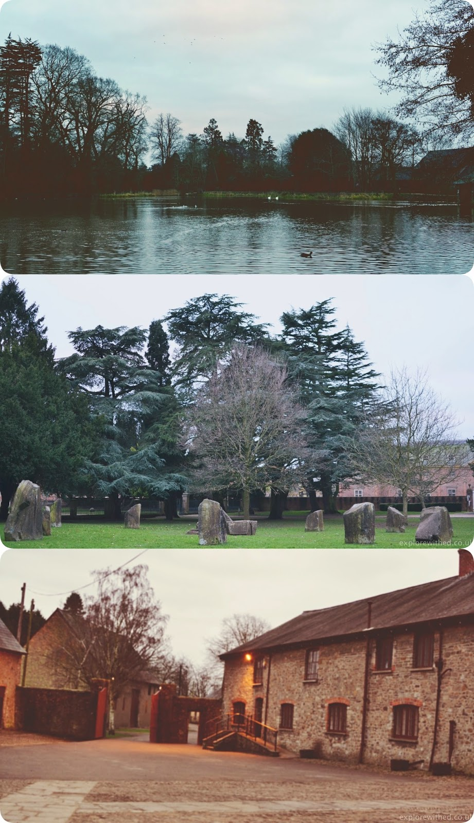 Vintage style pictures of Tredegar House and Gardens