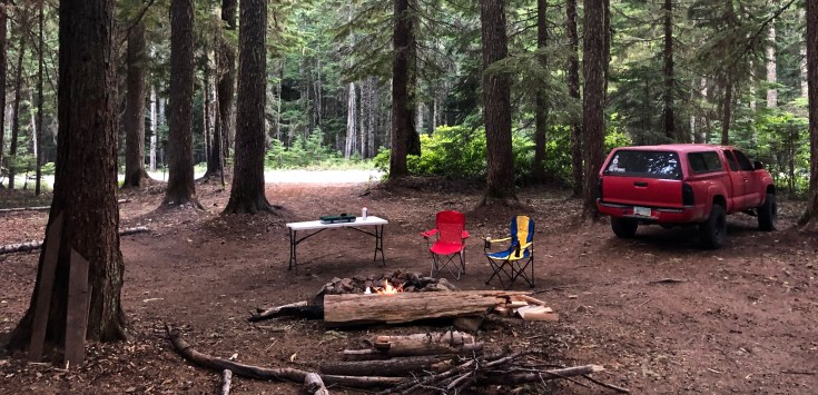 campground near Mount Hood