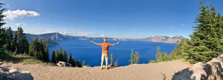 Crater Lake National Park overlook.